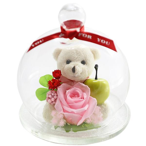 ベアアップル プリザーブドフラワー バラ 誕生日プレゼント 退職祝い 結婚記念日 還暦祝い 女性 プレゼント ギフト|a4s|12