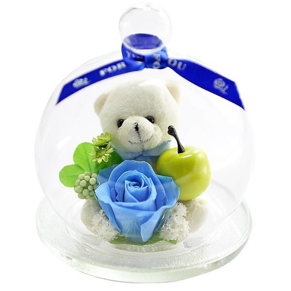 ベアアップル プリザーブドフラワー バラ 誕生日プレゼント 退職祝い 結婚記念日 還暦祝い 女性 プレゼント ギフト|a4s|13