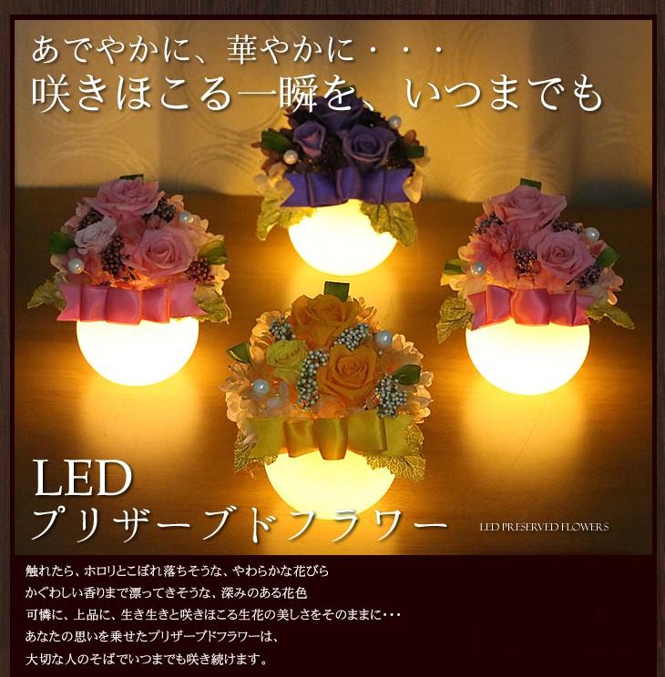 あでやかに、華やかに・・・咲きほこる一瞬を、いつまでも LEDプリザ