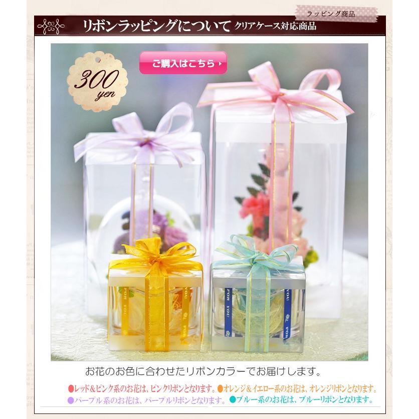 【オプション】リボン掛け ラッピング  花ギフトに付随した商品です。オプション商品 クリアケース対応商品|a4s|05
