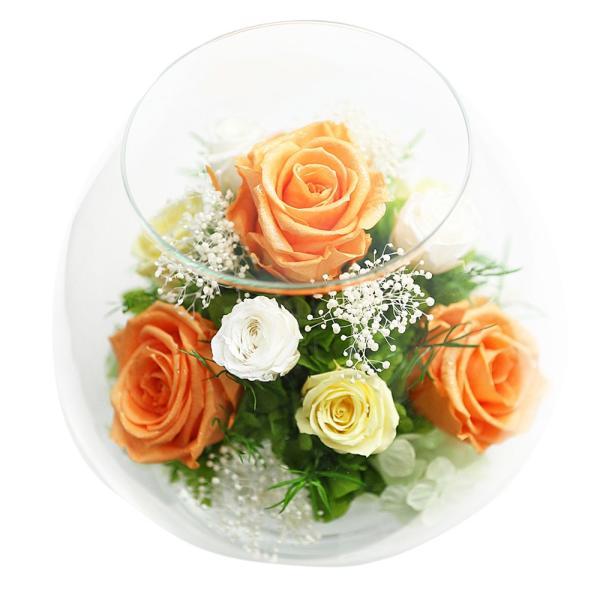 ダイヤモンドプリザMS 退職祝い 女性 プリザーブドフラワー 誕生日プレゼント 還暦祝い 結婚記念日 プレゼント 結婚祝い 名入れ|a4s|08