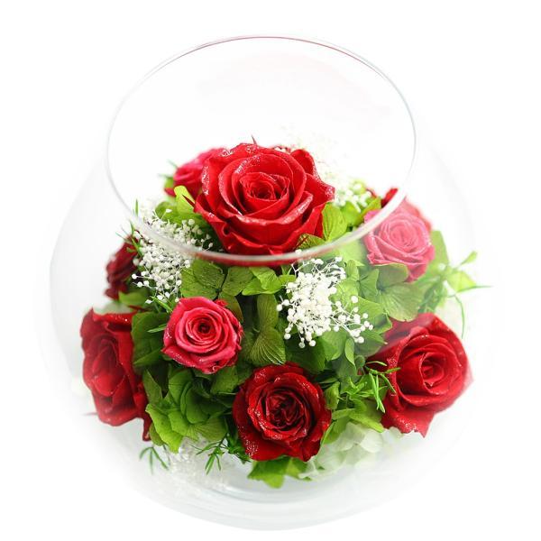 ダイヤモンドプリザMS 退職祝い 女性 プリザーブドフラワー 誕生日プレゼント 還暦祝い 結婚記念日 プレゼント 結婚祝い 名入れ|a4s|09