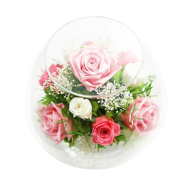 ダイヤモンドプリザMS 退職祝い 女性 プリザーブドフラワー 誕生日プレゼント 還暦祝い 結婚記念日 プレゼント 結婚祝い 名入れ|a4s|10