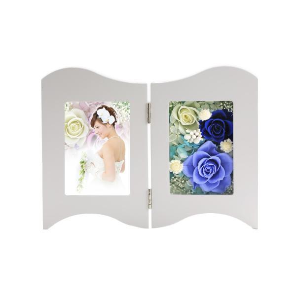 写真立て フォトフレーム 額 結婚記念日 プレゼント プリザーブドフラワー バラ 退職祝い 還暦祝い 結婚祝い 誕生日プレゼント 女性|a4s|10
