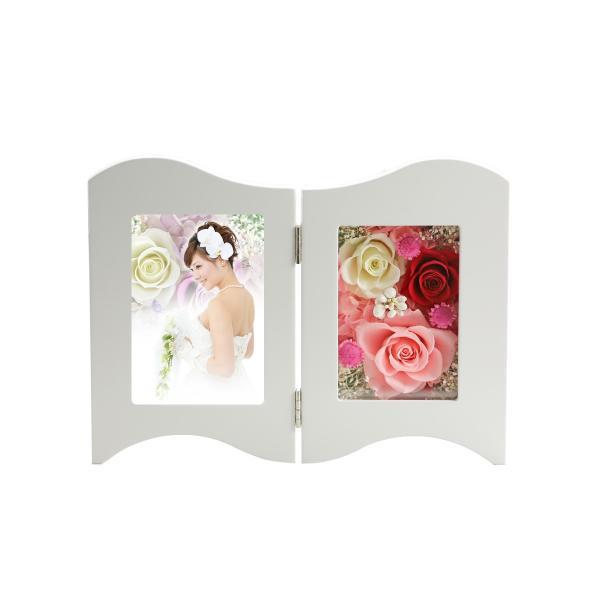 写真立て フォトフレーム 額 結婚記念日 プレゼント プリザーブドフラワー バラ 退職祝い 還暦祝い 結婚祝い 誕生日プレゼント 女性|a4s|11