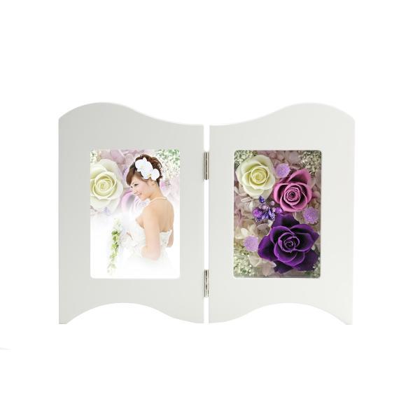 写真立て フォトフレーム 額 ホワイトデー Whiteday 2019 結婚記念日 プレゼント プリザーブドフラワー バラ 退職祝い 還暦祝い 誕生日 女性 a4s 12