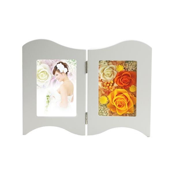 写真立て フォトフレーム 額 ホワイトデー Whiteday 2019 結婚記念日 プレゼント プリザーブドフラワー バラ 退職祝い 還暦祝い 誕生日 女性 a4s 13