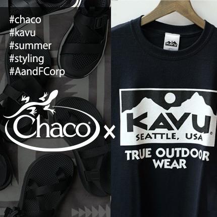 Chaco サンダル×KAVU Tシャツ おすすめコーディネート!