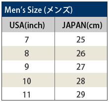 チャコ サイズ表 メンズ