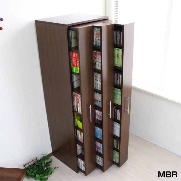 3連 スリムラック 本棚 薄型 スライド コミック収納 漫画収納 マンガ収納 書棚 大容量 木製 J-Supply Ltd. 期間限定 tcp348|abiles|21