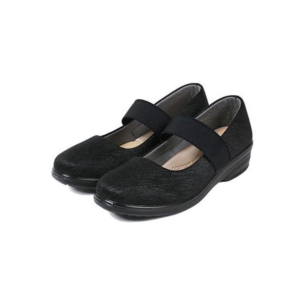 軽量 パンプス 黒 ラウンドトゥ 痛くない 柔らかい 歩きやすい 履きやすい 蒸れにくい 疲れにくい ウェッジソール おしゃれ フォーマル レディース 靴 htc849 ablya 11