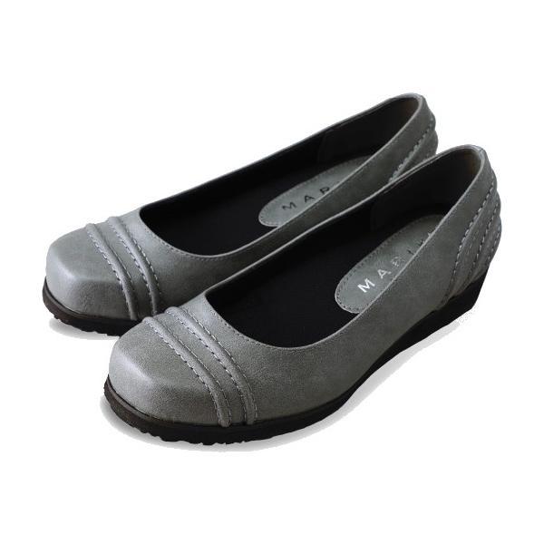 パンプス 痛くない 歩きやすい ローヒール 黒 ブラック 幅広 5E ぺたんこ ウエッジソール カジュアル シューズ レディース 靴 外反母趾 tcac0614 ablya 10