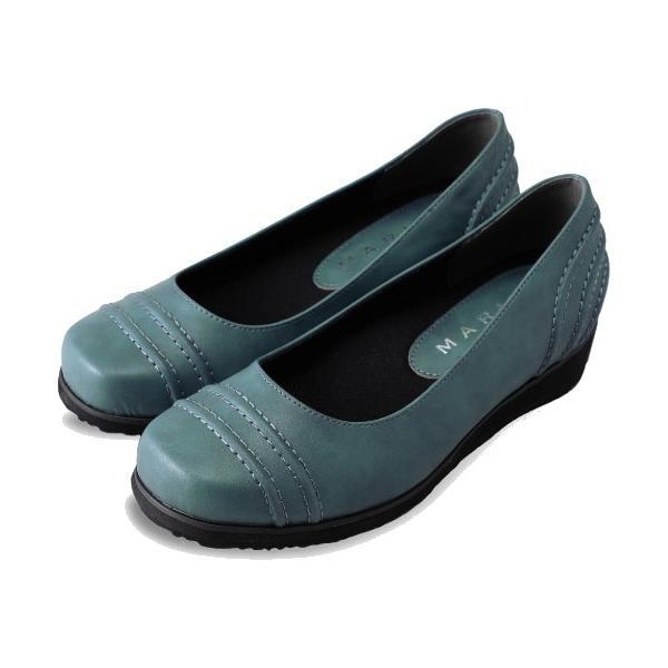 パンプス 痛くない 歩きやすい ローヒール 黒 ブラック 幅広 5E ぺたんこ ウエッジソール カジュアル シューズ レディース 靴 外反母趾 tcac0614 ablya 11