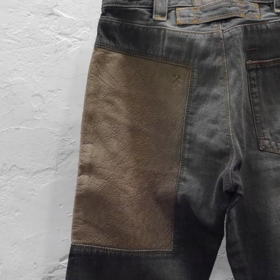 DECAUVILLE PANTS デコービルパンツ ストレートブラックジーンズ