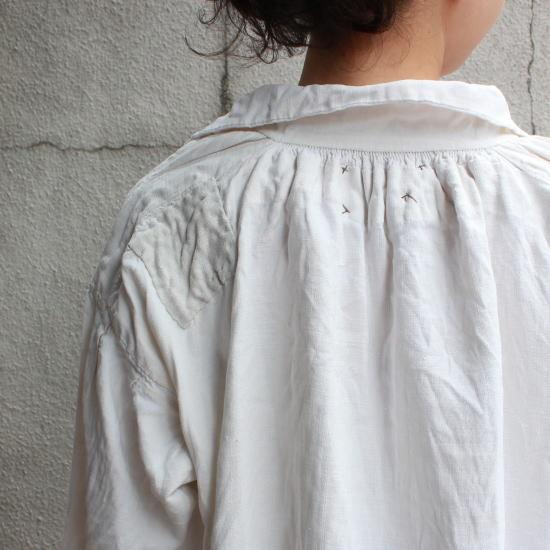 アンティークフレンチリネンロングシャツ