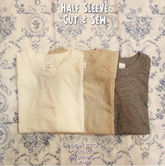 Half Sleeve Cut Sew(ハーフスリーブ)