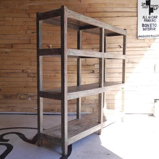 アンティーク 木製ペイントシェルフ