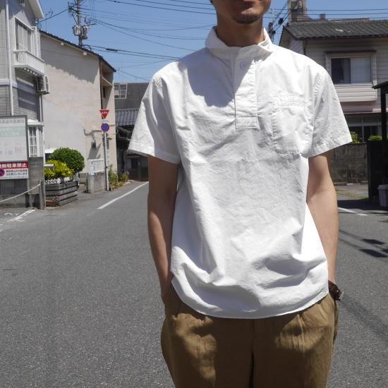 LOLO(ロロ) コットン半袖プルオーバーシャツ オフホワイト LS-334
