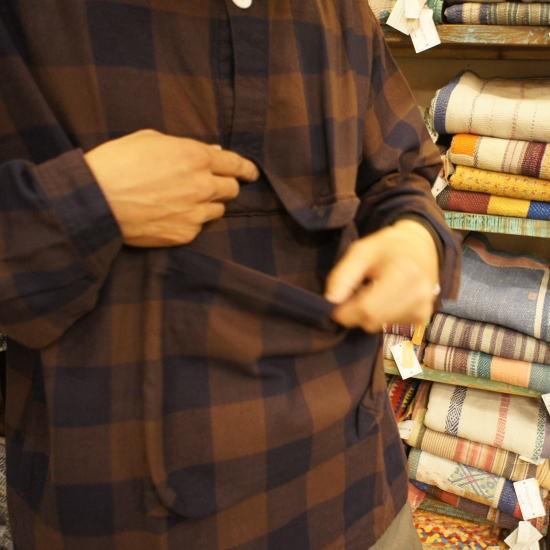 LOLO(ロロ) ブロックチェックアノラックシャツブルゾン LS-348