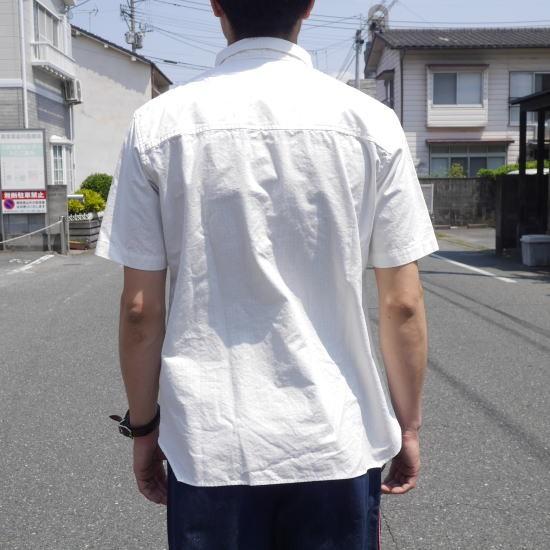 LOLO(ロロ) リップストップ半袖シャツ オフホワイト カーキ LS-336