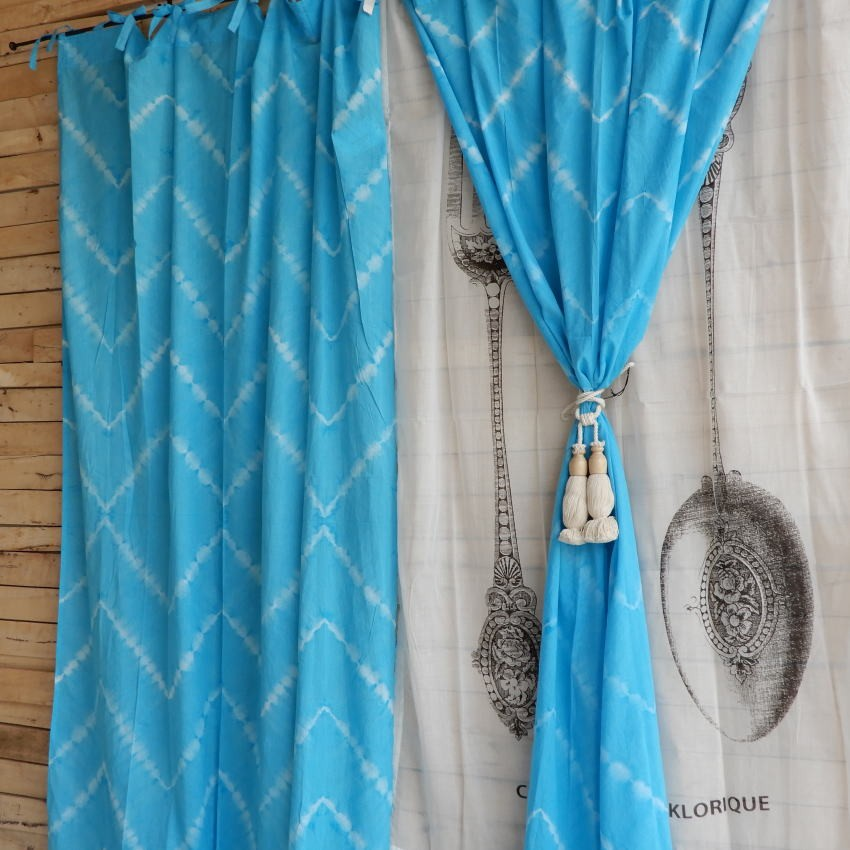 TOPANGA Shibori Curtain シボリカーテン