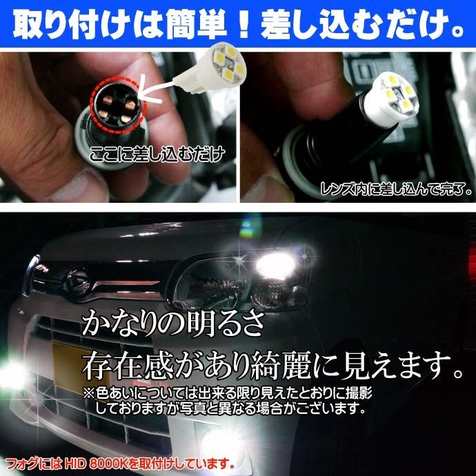 4連★高輝度LEDバルブ T10 SMDウェッジ