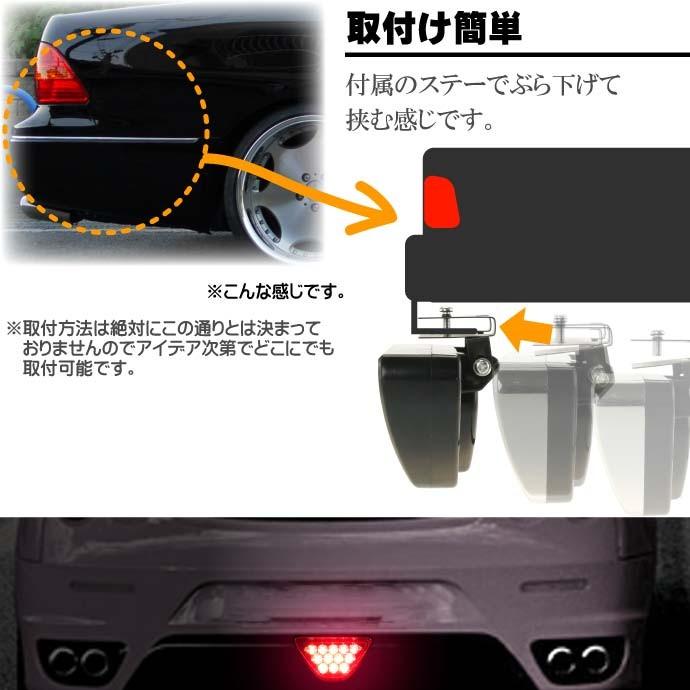 F1風LEDバックフォグランプ黒 ブレーキ連動でフラッシュ