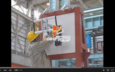 テレビ壁掛け金具の耐震試験