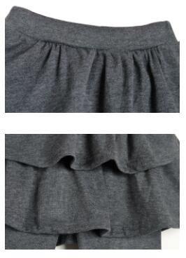 7236a94160060 子供 2段フリルのスカッツ ストレッチ スカート付き レギンス パンツ ...