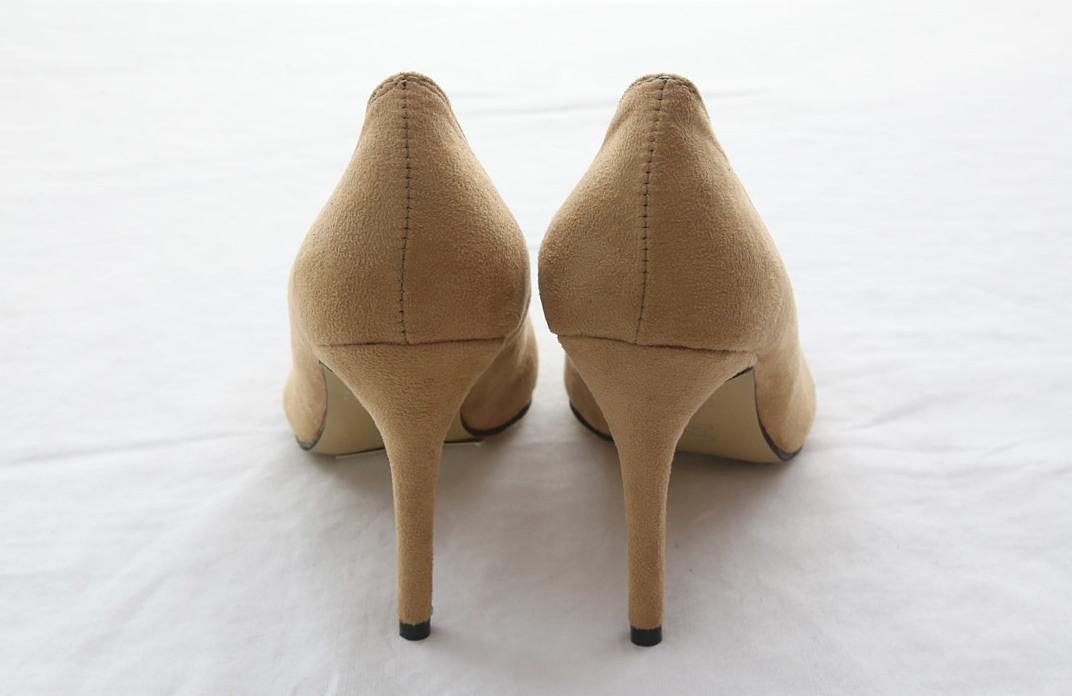 レディース パンプス 無地 シンプル ヒール 9cm 冬/靴 ポインテッドトゥ ハイヒール おしゃれ オフィス/スエードパンプス カラバリ 美脚