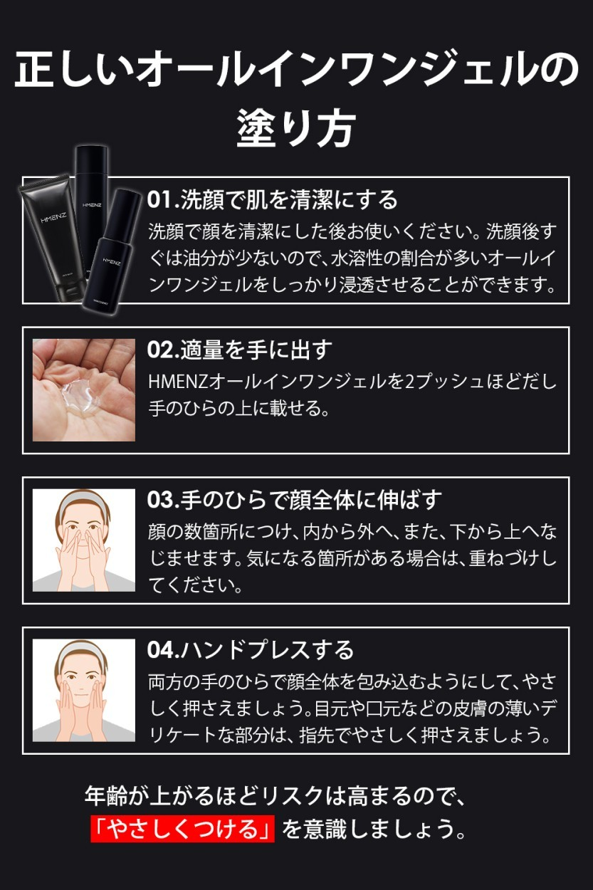 HMENZ 美白 スキンケア  老け肌 集中ケア 美容液 男性用 アフターシェーブ ローション