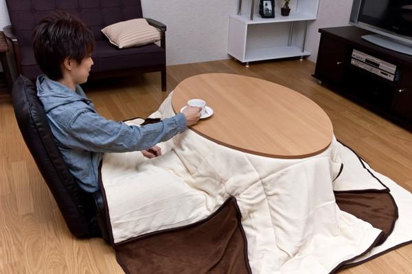 使用例!長方形省スペースこたつ布団使用