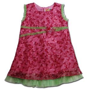 パーティ ドレス 子供服 春夏 セール ピンクドール お花がたくさん 柔らかシフォンの花柄ワンピース(濠Du) 結婚式 発表会 ドレス|adorable|07
