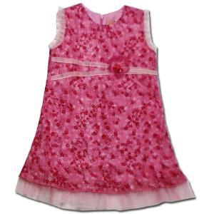 パーティ ドレス 子供服 春夏 セール ピンクドール お花がたくさん 柔らかシフォンの花柄ワンピース(濠Du) 結婚式 発表会 ドレス|adorable|11
