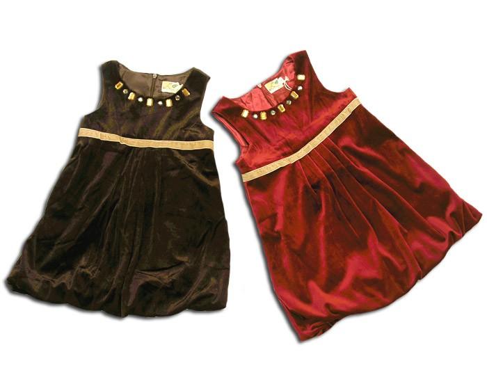 296c0c01fd63d 子ども服 パーティ ドレス プリンセスサラ 高級ベロア素材のノースリブ ...