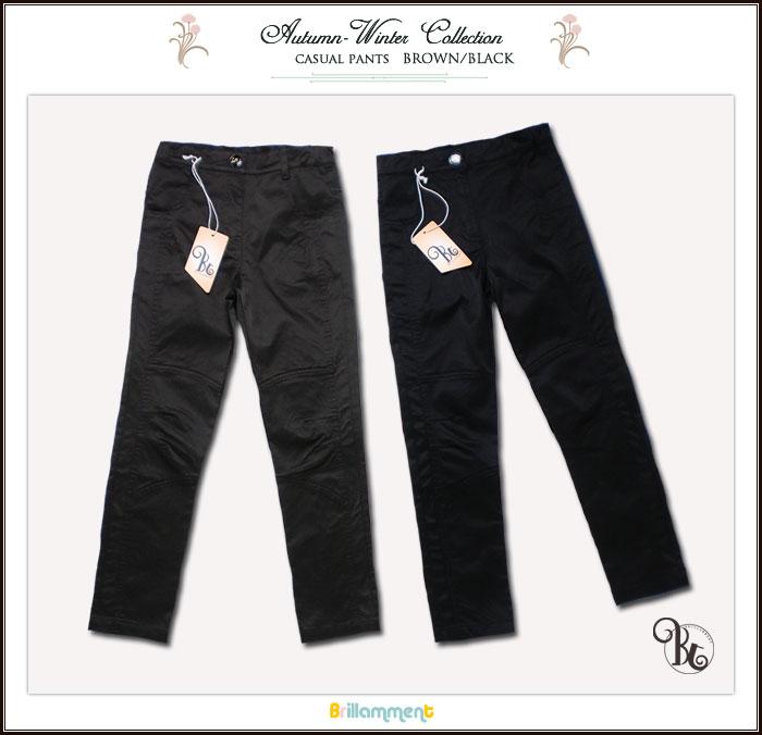 【子供服】履きやすく動きやすさを備えたシンプル上質美脚で魅せるスリムなパンツ