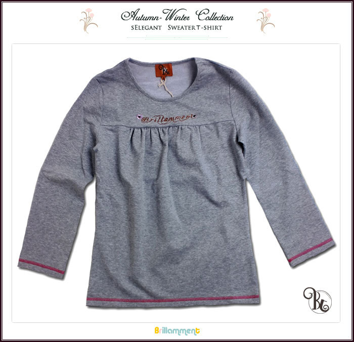 【子供服】上品で可愛いブランド子供服。実用性と動きやすさを備えたシンプル上質ニットトレーナー