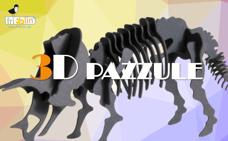 Fridolin 3Dパズル トリケラトプス ティラノサウルス 自然博物館コレクション 集中力UP ギフト プレゼント FR11643