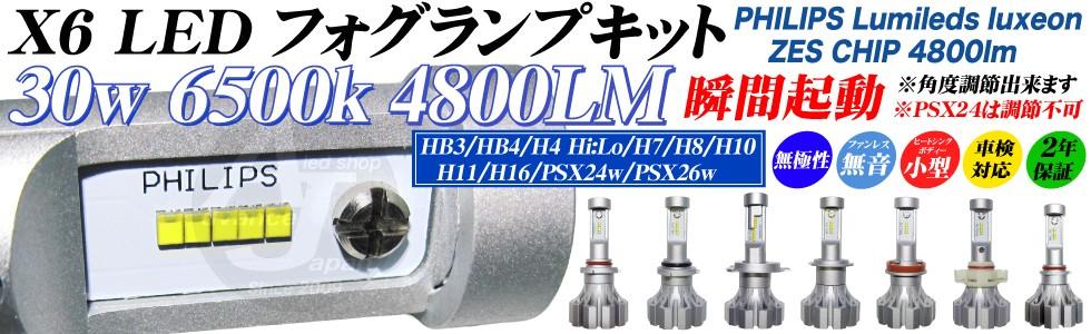 フィリップス4800ルーメンLEDフォグランプキット