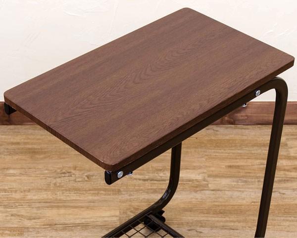 コの字型 サイドテーブル 網棚付き ベッドテーブル 介護 コの字テーブル ソファテーブル - エイムキューブ画像3