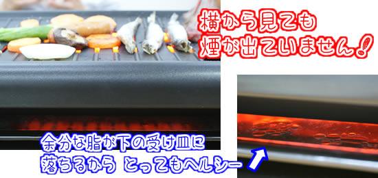 家庭用無煙ロースター弥久蔵1300