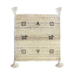 チェアパッド 四角 40 おしゃれ チェアクッション 座布団 クッション シートクッション 椅子用 かわいい ギャッベ エスニック 柄 ギャッベチェアパッド|air-r|19