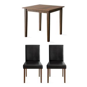 ダイニングテーブルセット 2人用 3点 木製 おしゃれ ダイニングセット 二人用 北欧 モダン カフェ ナチュラル 食卓テーブルセット air-r 24