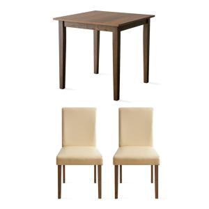 ダイニングテーブルセット 2人用 3点 木製 おしゃれ ダイニングセット 二人用 北欧 モダン カフェ ナチュラル 食卓テーブルセット air-r 25