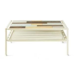 ローテーブル リビングテーブル センターテーブル おしゃれ 木製 収納 棚付き 長方形 西海岸 ヴィンテージ 天然木 カフェテーブル アイアン ブルックリン|air-r|08