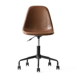デスクチェア オフィスチェア おしゃれ パソコンチェア レザー 革 椅子 イス 回転 昇降式 キャスター付き ヴィンテージ インダストリアル ワークチェア|air-r|17