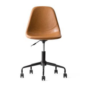 デスクチェア オフィスチェア おしゃれ パソコンチェア レザー 革 椅子 イス 回転 昇降式 キャスター付き ヴィンテージ インダストリアル ワークチェア|air-r|19