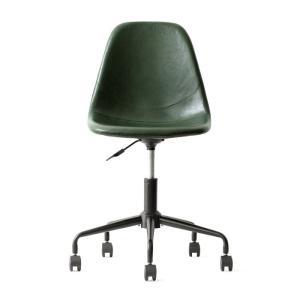 デスクチェア オフィスチェア おしゃれ パソコンチェア レザー 革 椅子 イス 回転 昇降式 キャスター付き ヴィンテージ インダストリアル ワークチェア|air-r|18