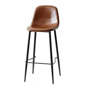 カウンターチェア バーチェア 2脚 おしゃれ レザー 背もたれ 椅子 イス ヴィンテージ インダストリアル ブルックリン カフェ ハイチェア|air-r|21