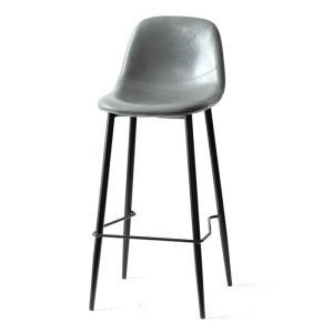 カウンターチェア バーチェア 2脚 おしゃれ レザー 背もたれ 椅子 イス ヴィンテージ インダストリアル ブルックリン カフェ ハイチェア|air-r|24